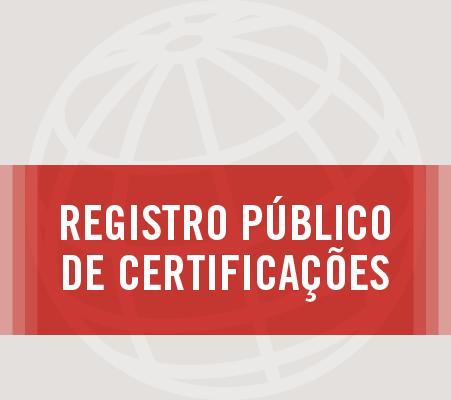 Registro Público de Certificação